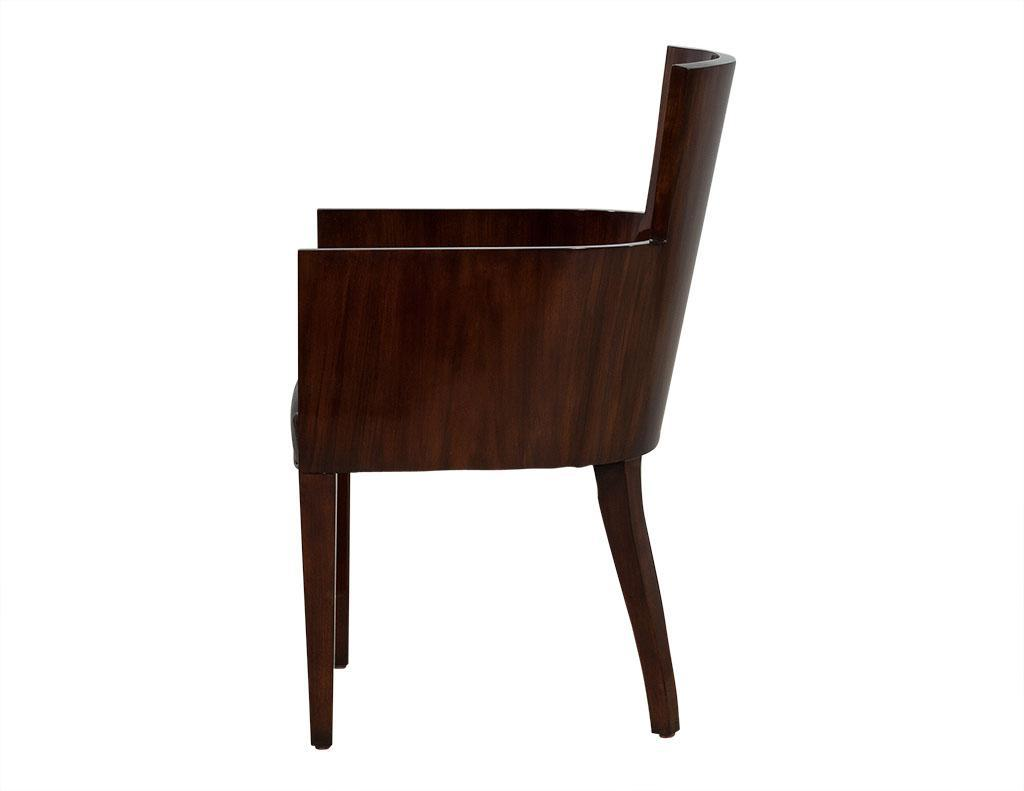 Animal Skin Ralph Lauren Modern Hollywood Dining Chairs   Set Of 6 For Sale    Image