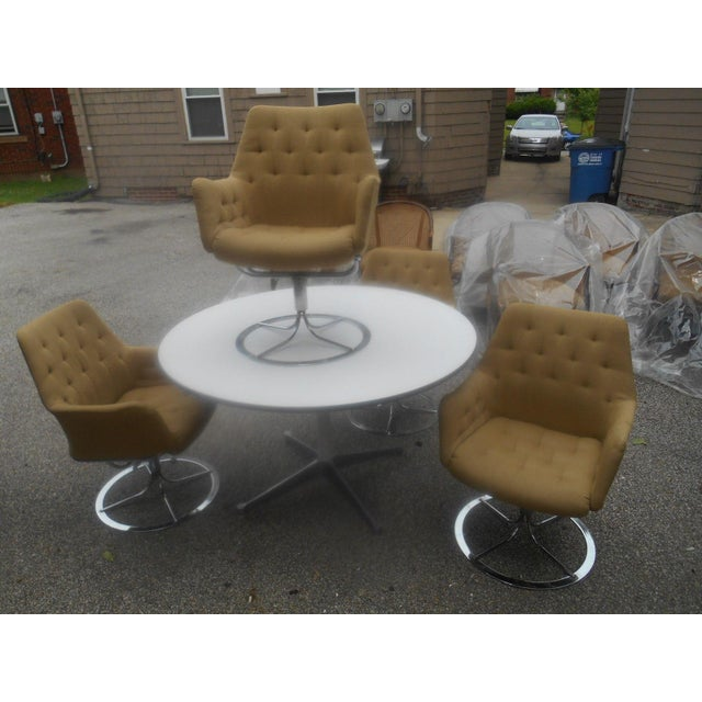 Mid-Century Modern Bruno Mathsson for Dux Chairs & Herman Miller Table For Sale - Image 3 of 11