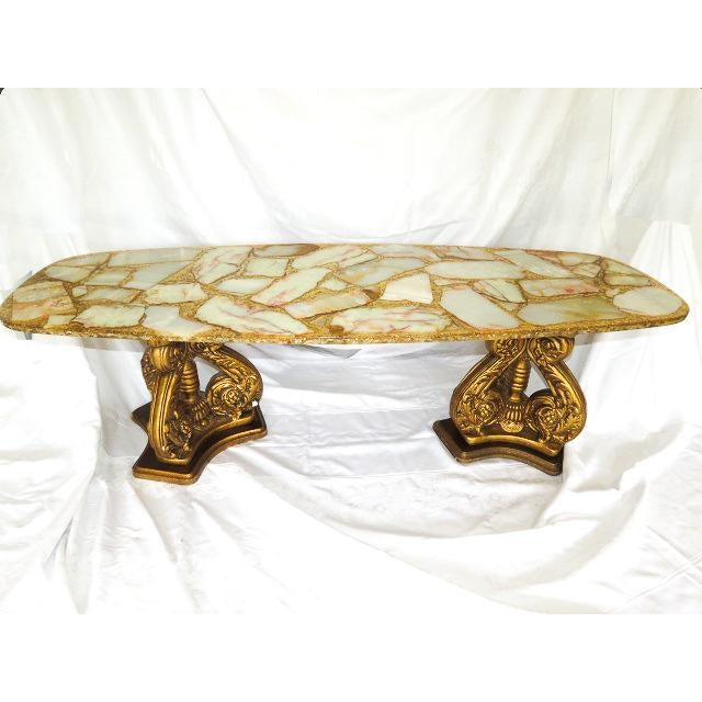 Agate 20th Century Hollywood Regency Arturo Pani Coffee Table For Sale - Image 7 of 7