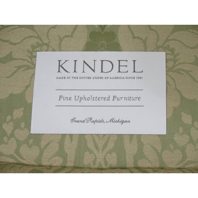 Late 19th Century Kindel #412 Philadelphia Claw Foot Winterthur Wing Chair For Sale - Image 12 of 13