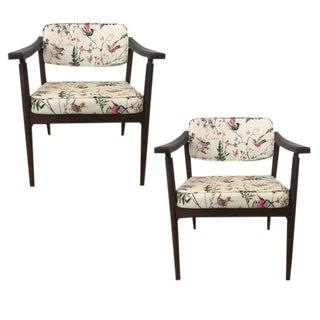 Danish MidCentury Chinoiserie Hummingbird Chairs - A Pair For Sale