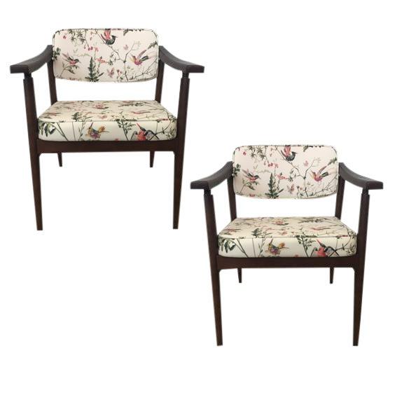 Danish MidCentury Chinoiserie Hummingbird Chairs - A Pair - Image 1 of 4