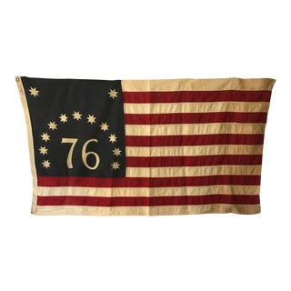 """1976 Bicentennial """"Pioneer"""" Flag Made by Valley Forge Flag Compan For Sale"""