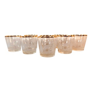 1960s Elk in a Forest Glass Bar Tumblers, Set of 8 For Sale