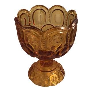Vintage Decorative Amber Vase For Sale