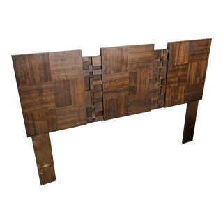 Lane Staccato Brutalist Queen Headboard For Sale