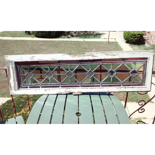 Antique Vintage Art Deco Stained Glass Window - Image 6 of 8