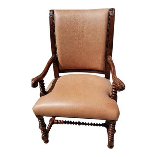 1960s Vintage Theodore Alexander Savoy Leather Chair For Sale