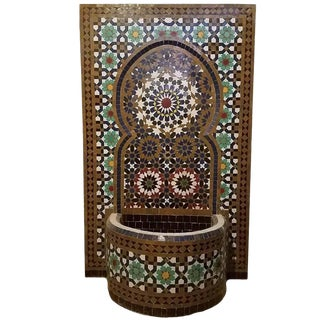Vintage Tangiers Style Moroccan Fountain For Sale