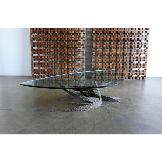 Daniel Gluck Mid 20th Century Daniel Gluck Bronze Sculptural Coffee Table For Sale - Image 4 of 13
