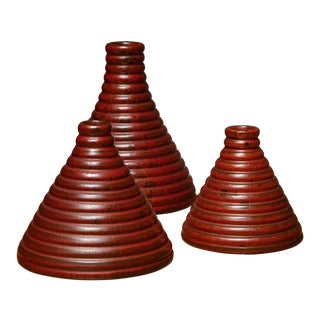 Set of 3 Ceramic Vases by Il Punto For Sale
