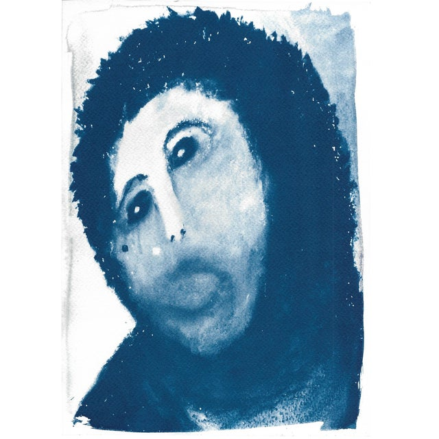 Ecce Homo Spanish Jesus Meme Cyanotype Print For Sale