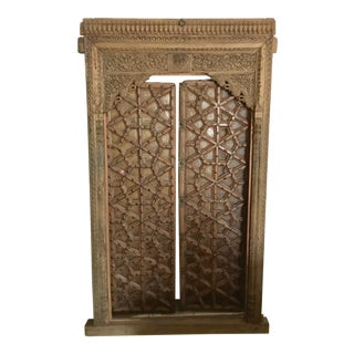Hand Carved Antique Anglo Indian Doors - A Pair For Sale