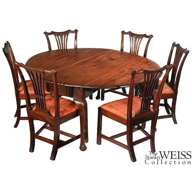 Mahogany Queen Anne Oval Dropleaf Table with Trifid Feet - Image 3 of 5