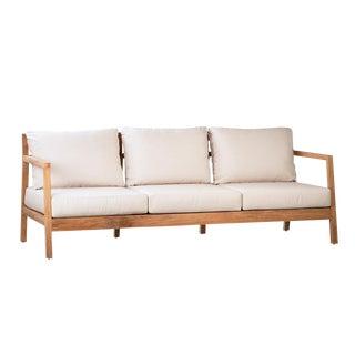 Outdoor Teak Sofa W/Cushion For Sale