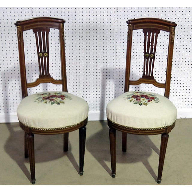 Tan Pair of Directoire Style Slipper Chairs For Sale - Image 8 of 8