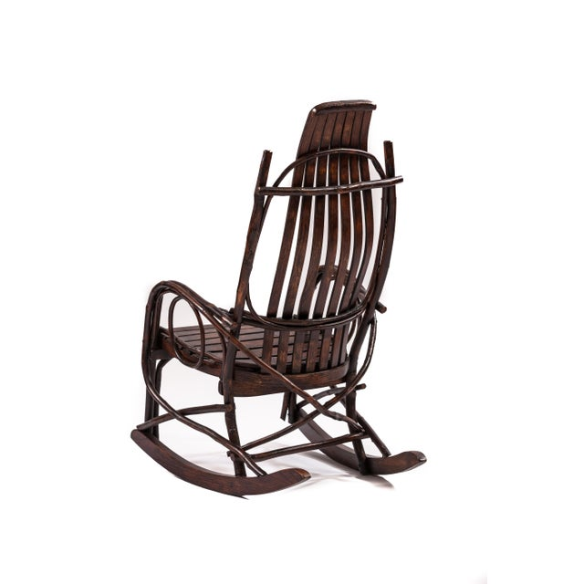 Adirondack Early 20th-Century Adirondack Childs Rocker For Sale - Image 3 of 4