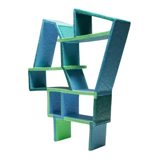 Green and Blue Clay Shelve System by Diego Faivre - 2020 For Sale