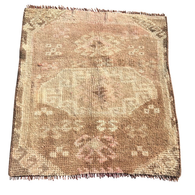 Oushak Turkish Rug - 2′2″ × 2′6″ - Image 1 of 8