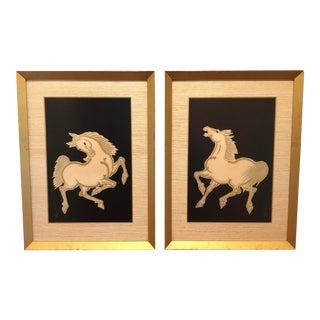 Mid Century Nisaburo Ito Woodblock Vintage Prints - a Pair For Sale
