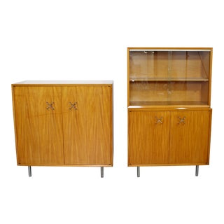 Mid Century Modern George Nelson Herman Miller Cabinets 1960s - a Pair For Sale