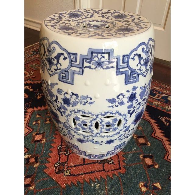 Asian Chinoiserie Ceramic Garden Stool For Sale - Image 3 of 8