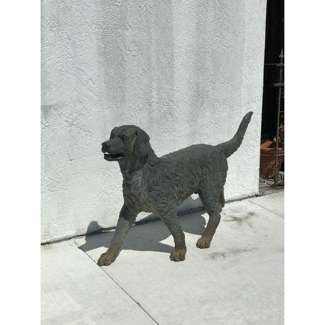 Vintage Bronze Dog Retriever For Sale - Image 9 of 9