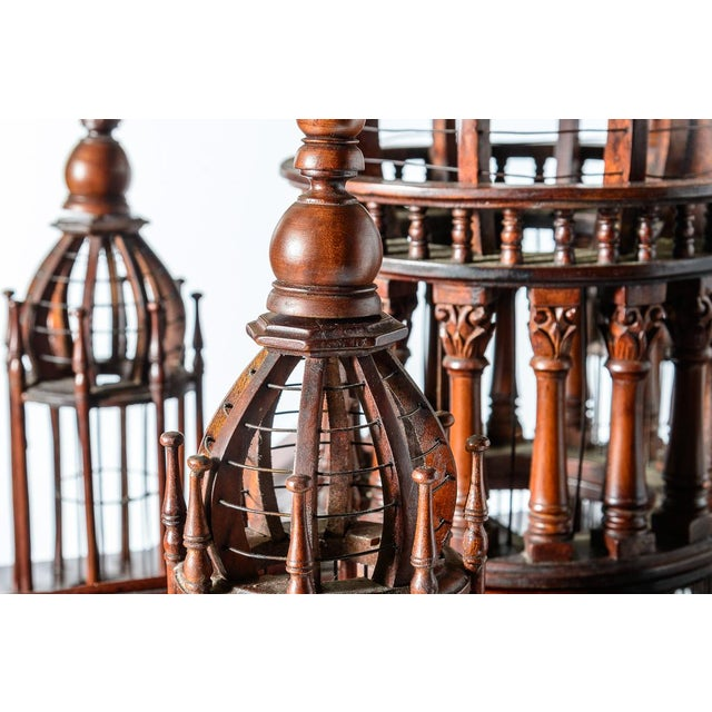 Brown Architectural Bird Cage For Sale - Image 8 of 12