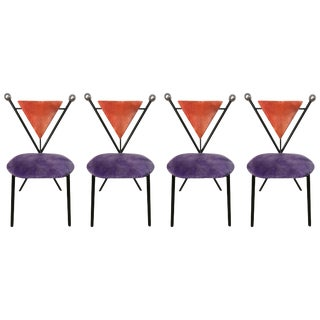 Set of Four Postmodern Dining Chairs For Sale