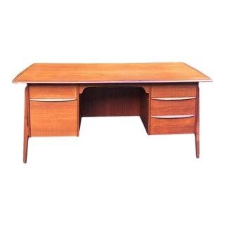 1950s Scandinavian Modern Sven Aage Madsen for Povl Dinesen Tanker Executive Desk For Sale