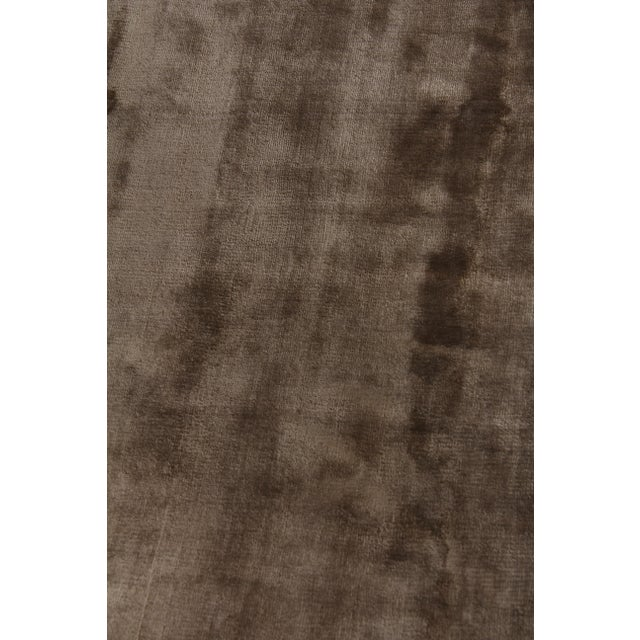 Not Yet Made - Made To Order Exquisite Rugs Durham Hand loom Viscose Khaki Rug-8'x10' For Sale - Image 5 of 7