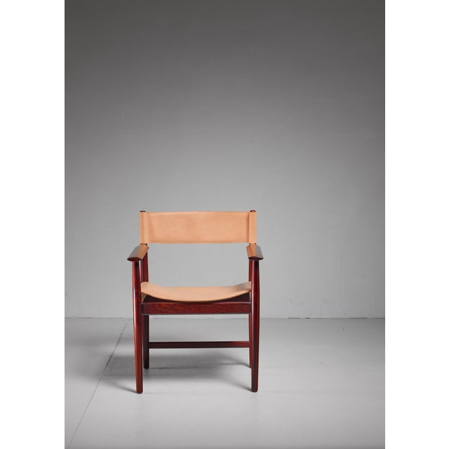 Sibast Furniture Kurt Østervig Rosewood and Leather Armchair for Sibast, Denmark, 1960s For Sale - Image 4 of 5
