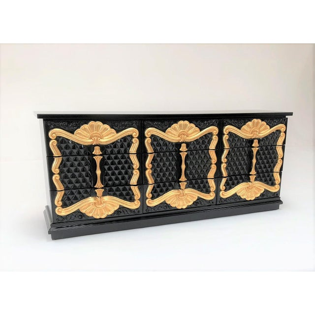 70s resin on wood carved rococo hollywood regency dresser - these resin artful designs never scratch.. they pop best w...