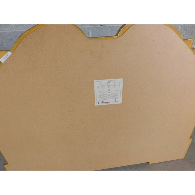 """Metal La Barge Italian Gilt Gold Wood Frame Mirror 42""""w X 32""""h For Sale - Image 7 of 8"""