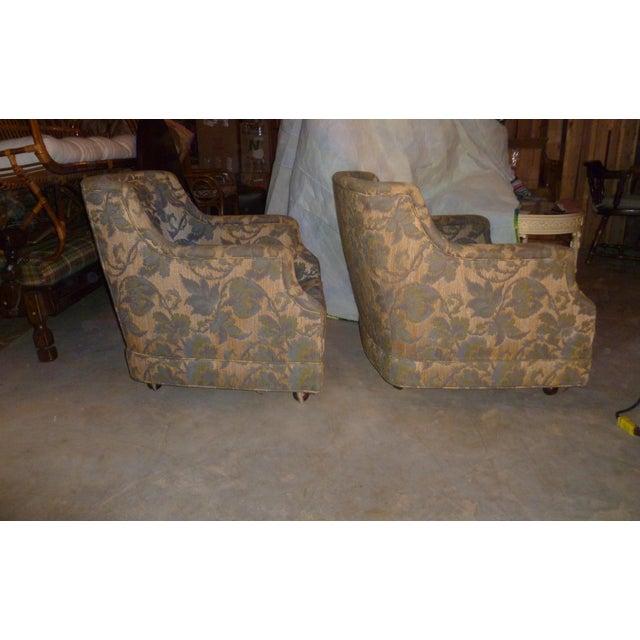 1970s Vintage Henredon Barrel Tub 2 Club Chair Good Frames - a Pair Mid Century Modern MCM Offer For Sale - Image 5 of 10