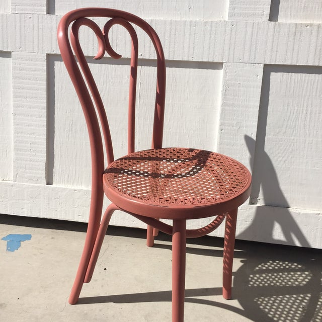 Pink Thonet-Style Cafe Chair - Image 3 of 7