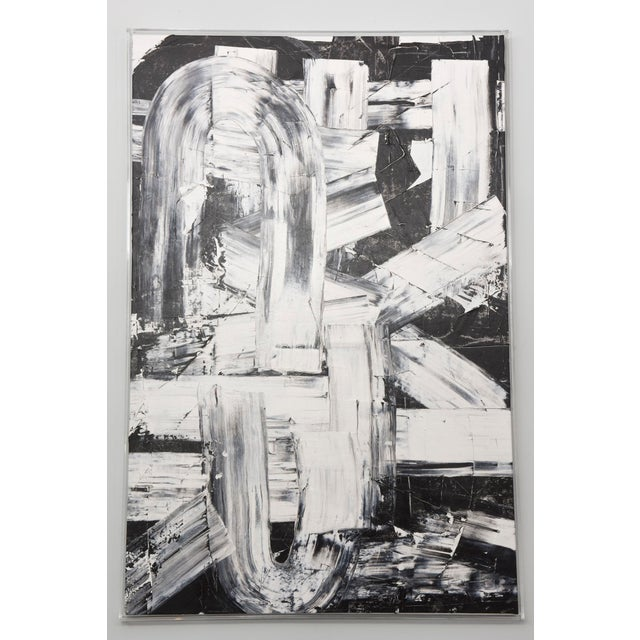 Original oil on canvas from new series black and white 11 paintings in total.