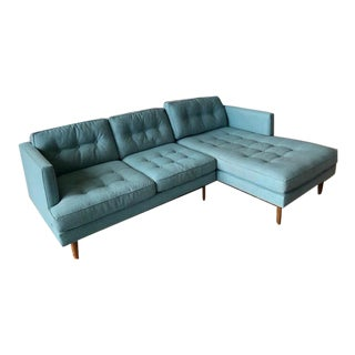Mid Century Style West Elm Drake Left Sided Sectional For Sale