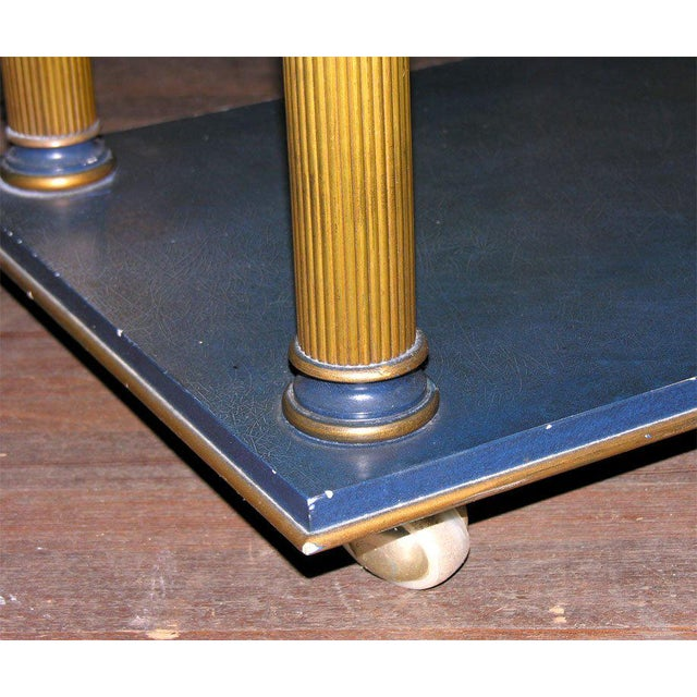 Blue 1960s Vintage James Mont Stand Table For Sale - Image 8 of 15