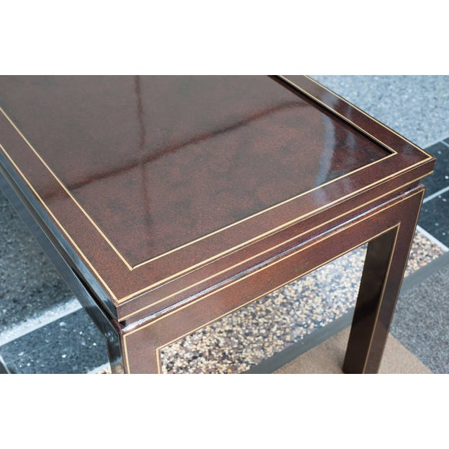 Contemporary Black Lacquer Coffee or Cocktail Table For Sale - Image 9 of 10