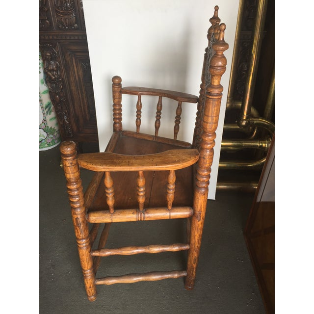 Pennsylvania Dutch Antique Carved Spool Chair, Circa 1855 - Image 3 of 7 - Pennsylvania Dutch Antique Carved Spool Chair, Circa 1855 Chairish