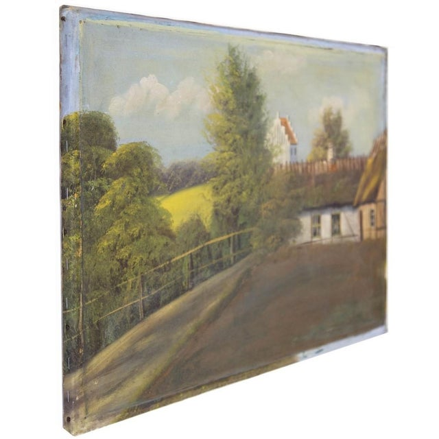 Canvas Swedish Landscape Oil on Canvas, C. 1900 For Sale - Image 7 of 10