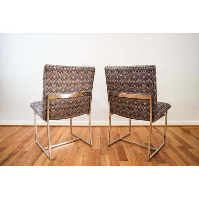 Mid-Century Milo Baughman Style Dining Chairs - Set of 6 - Image 5 of 11