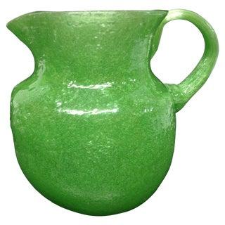 ** Napoleone Martinuzzi Green Pulegoso Jug For Sale