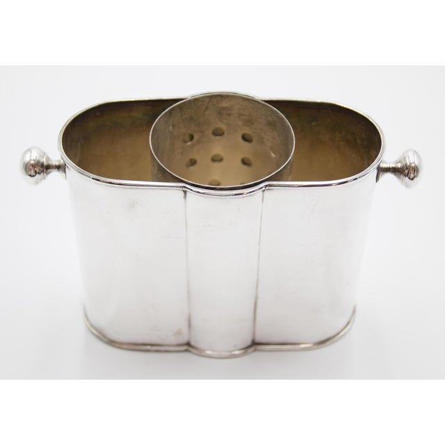 French Art Deco Silver Plate Champagne Bucket Wine Cooler For Sale In Houston - Image 6 of 9