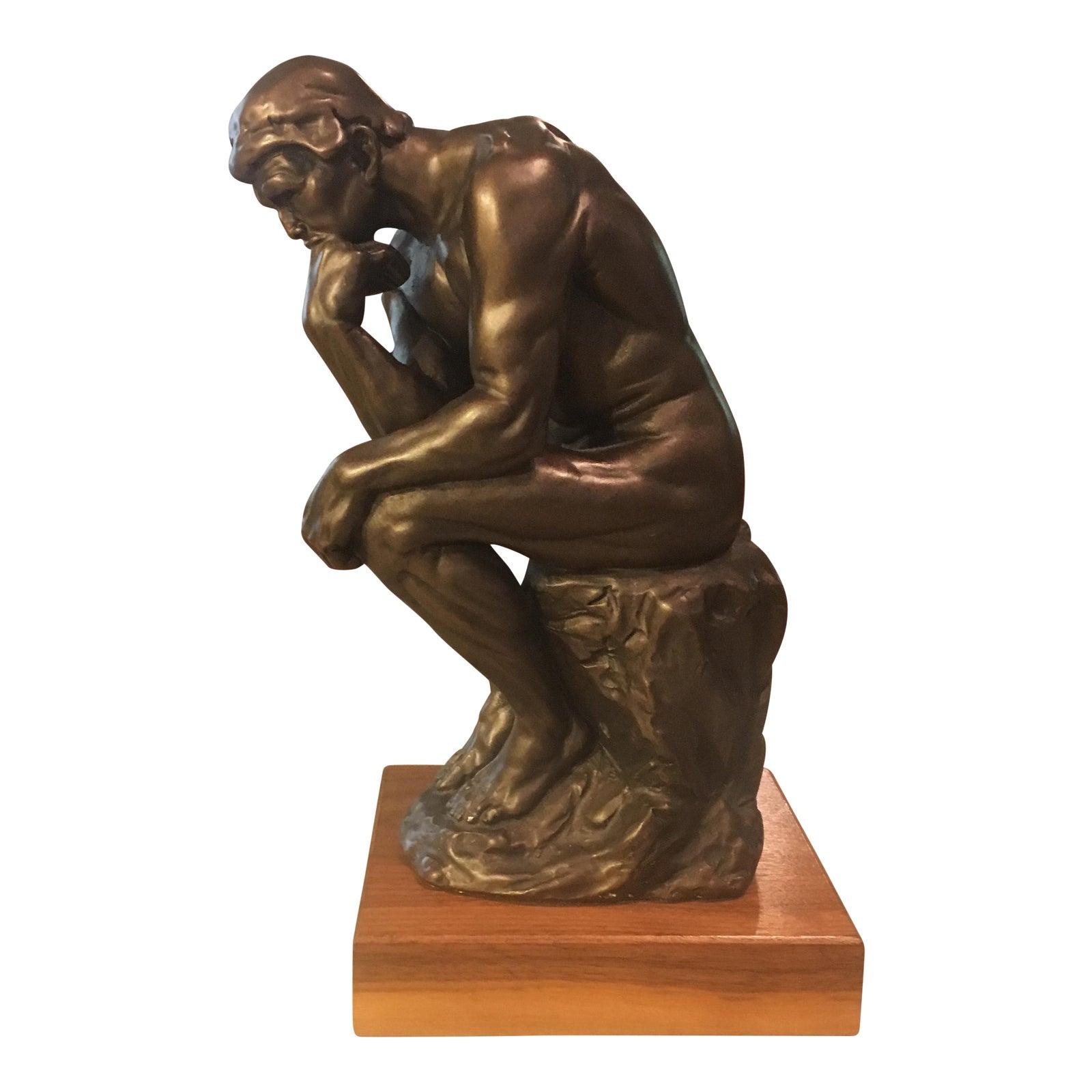 Austin Productions Inc. Rodin Thinker Bronze Statue | Chairish