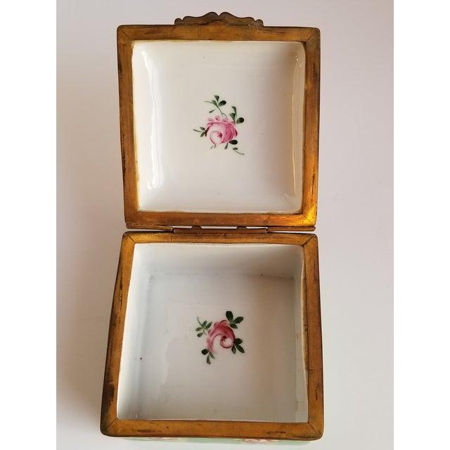 Antique French Porcelain Trinket Box For Sale - Image 9 of 12