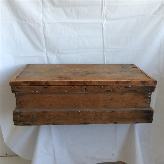 Rustic Pine Wood Sea Chest - Image 2 of 11