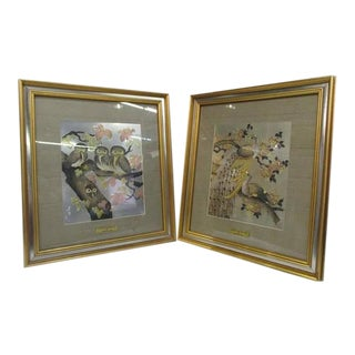 1980's Yoshinobi Hara Limited Edition Chokin Art -Set of 2