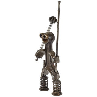 Sculpture Made From Industrial Iron Parts in France Circa 1980s For Sale